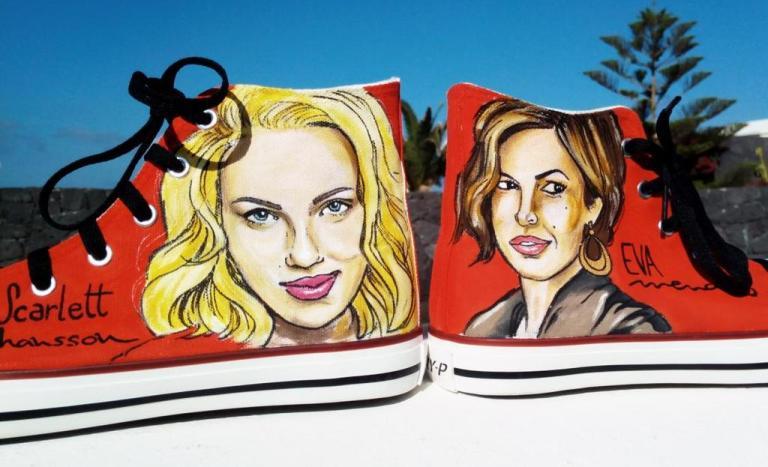 Las Nanis Scarlett Johansson y Eva Mendes