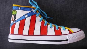 Las Nanis de Nani zapatillas del Atlético de Madrid