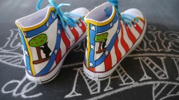 Las Nanis de Nani zapatillas pintadas del Atlético de Madrid