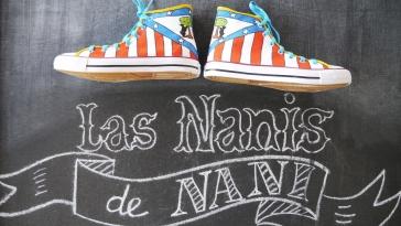 Las Nanis de Nani zapatillas pintadas del Atlético