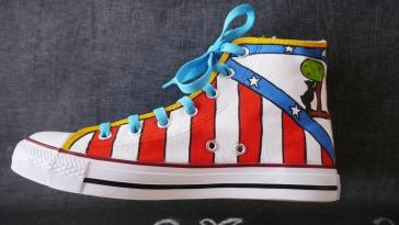 Las Nanis zapatillas pintadas del Atlético de Madrid