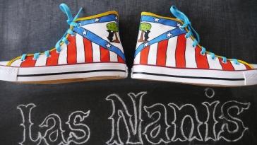 Las Nanis zapatillas pintadas del Atlético