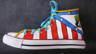 Nanis zapatillas pintadas del Atlético de Madrid