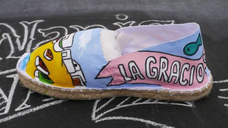 Alpargatas de las Nanis pintadas a mano de La Graciosa