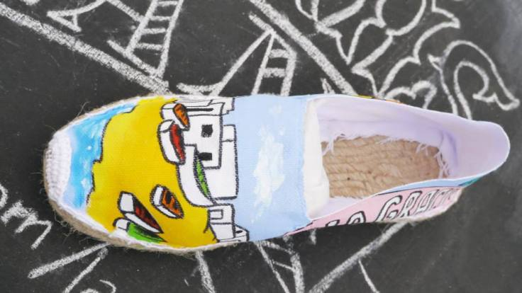 Alpargatas de las Nanis pintadas a mano de Lanzarote