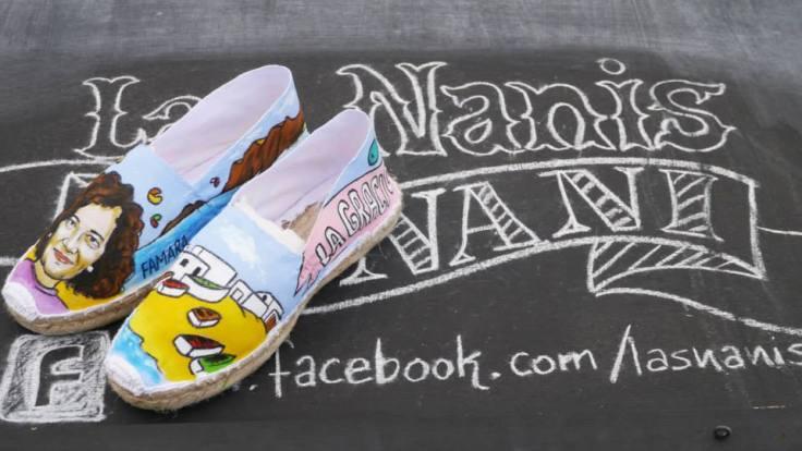 Zapatillas Nanis personalizadas a mano de Lanzarote
