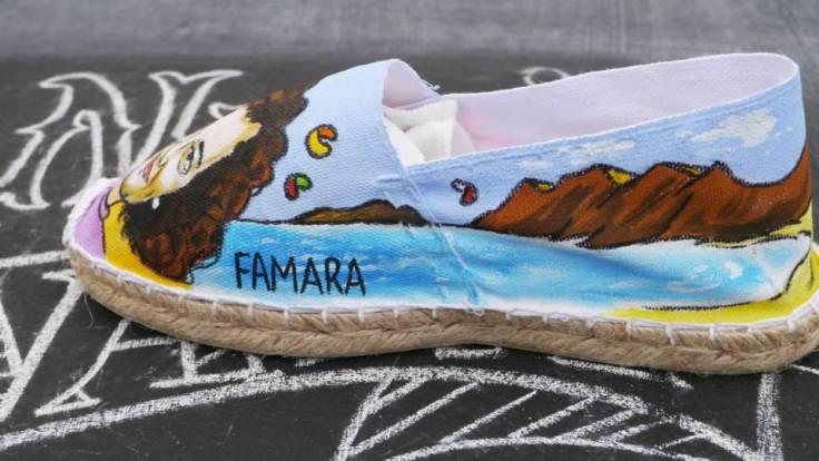 Zapatillas Nanis pintadas a mano del Risco de Famara